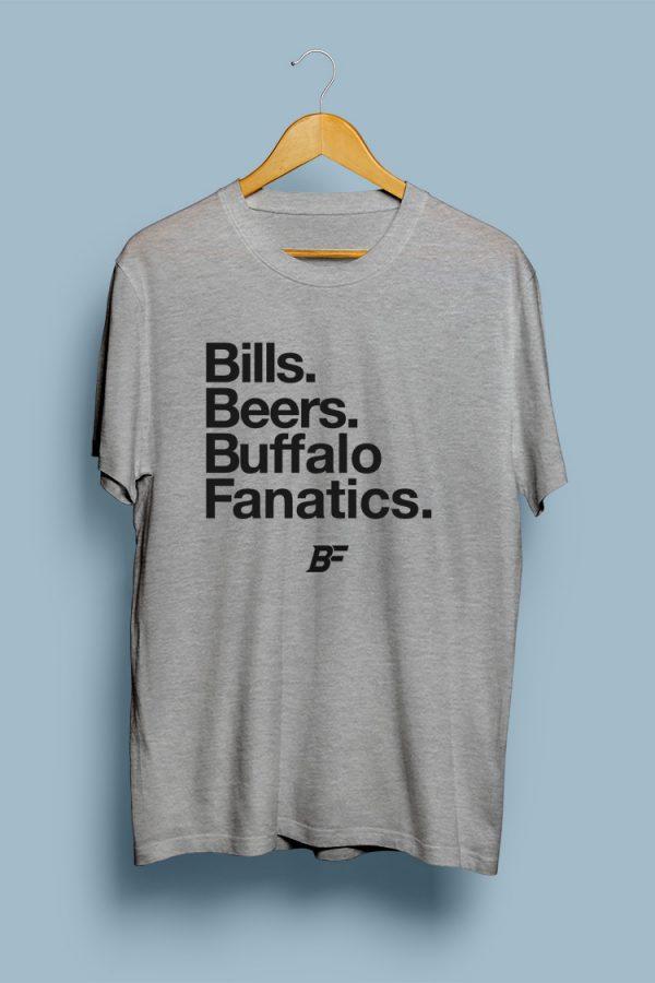 Bills, Beers, Buffalo Fanatics.